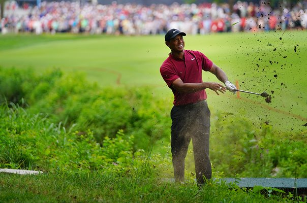 Tiger Woods in trouble USPGA Championship Bellerive 2018