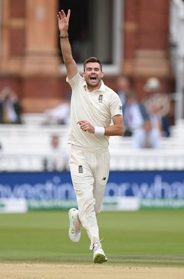 James Anderson England 100th Lord's wicket v India 2018
