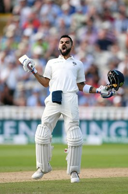 Virat Kohli India Century v England Edgbaston Test 2018