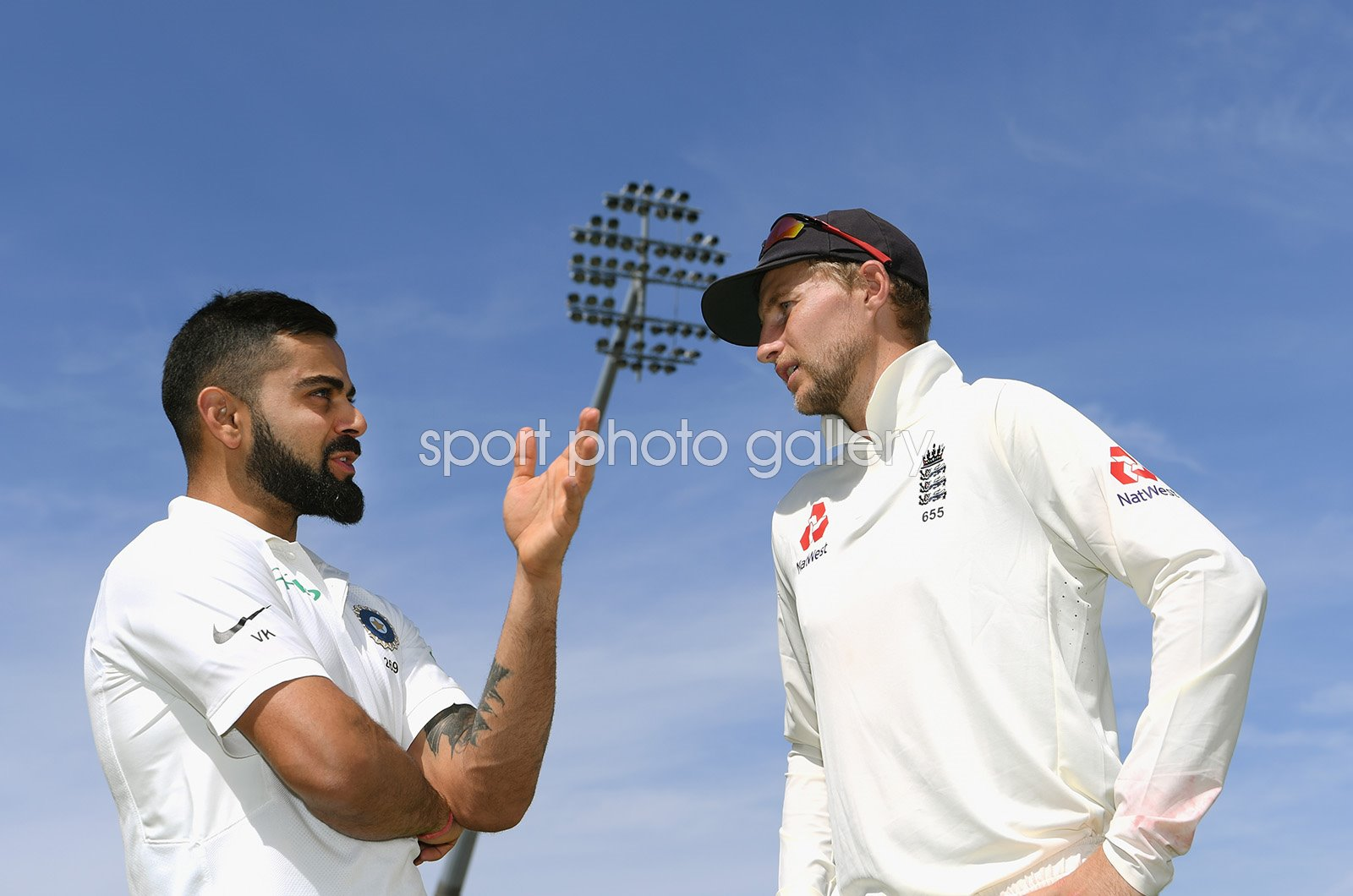Joe Root & Virat Kohli England v India Edgbaston 2018