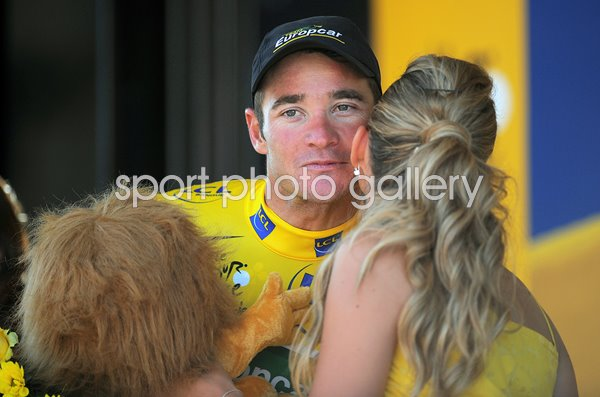 Thomas Voeckler Yellow Jersey Tour De France 2011 Stage 17