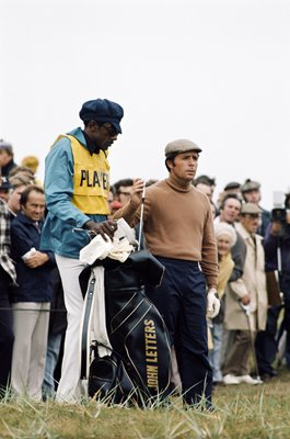 Gary Player & caddy Alfred 'Rabbit' Dyer British Open 1974