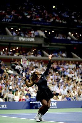 Serena Williams United States serves US Open 2018