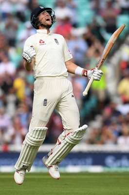 Joe Root England Century v India The Oval 2018