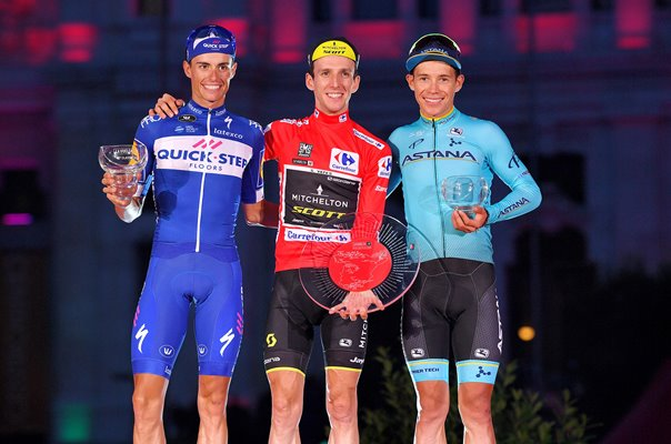Simon Yates Great Britain Tour of Spain Podium 2018