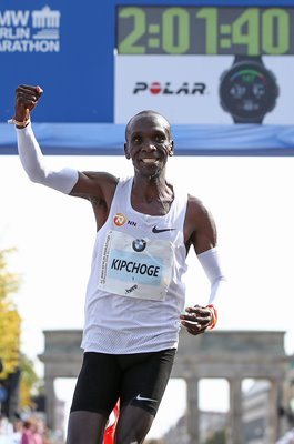 Eliud Kipchoge Kenya World Marathon Record Berlin 2018
