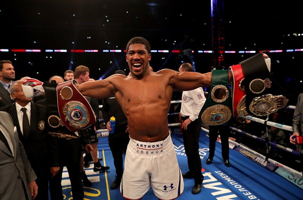 Anthony Joshua World Heavyweight Champion Wembley 2018