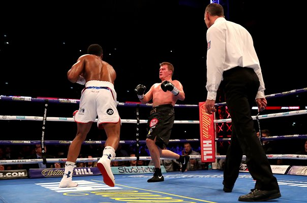 Anthony Joshua knocks out Alexander Povetkin Wembley 2018