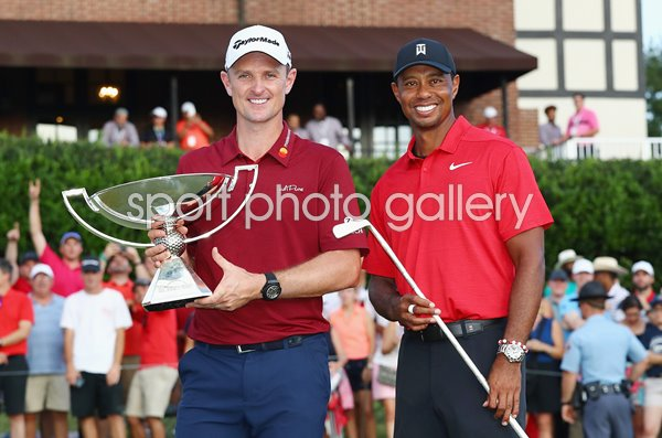 Justin Rose Fed Ex winner & Tiger Woods Tour Champion 2018