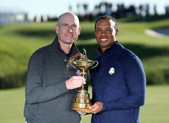 Captain Jim Furyk & Tiger Woods USA 2018 Ryder Cup