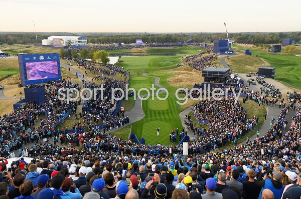 Tony Finau USA Opening Shot 1st Tee 2018 Ryder Cup