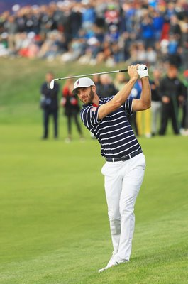 Dustin Johnson USA Day 1 Fourballs Ryder Cup Paris 2018