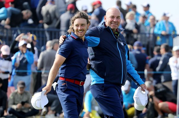 Captain Thomas Bjorn & Tommy Fleetwood 2018 Ryder Cup