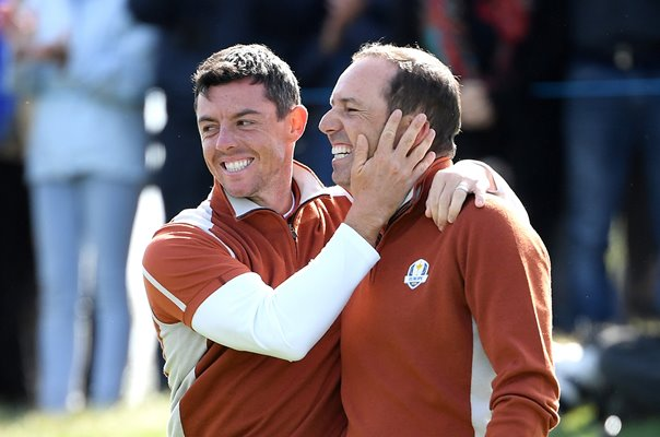Sergio Garcia & Rory McIlroy Europe Fourballs Day 2 2018 Ryder Cup