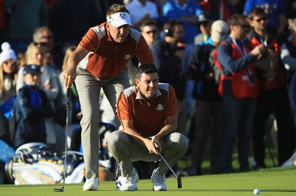 Ian Poulter & Rory McIlroy Europe Day 2 Foursomes 2018 Ryder Cup