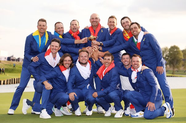 European Team 2018 Ryder Cup Winners
