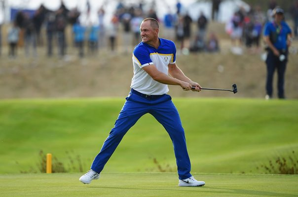 Alex Noren Europe monster putt 18th Hole Singles 2018 Ryder Cup
