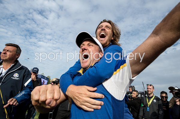 Ian Poulter & Tommy Fleetwood European Celebrations Ryder Cup 2018
