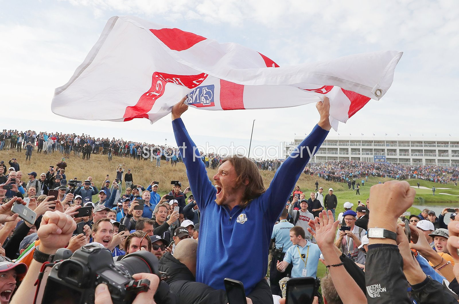 Tommy Fleetwood Europe Celebrates Victory 2018 Ryder Cup