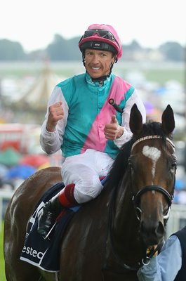 Frankie Dettori riding Enable win Oaks Epsom 2017