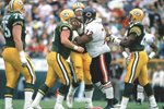 William Perry Chicago Bears v Green Bay Lambeau Field 1990 Prints
