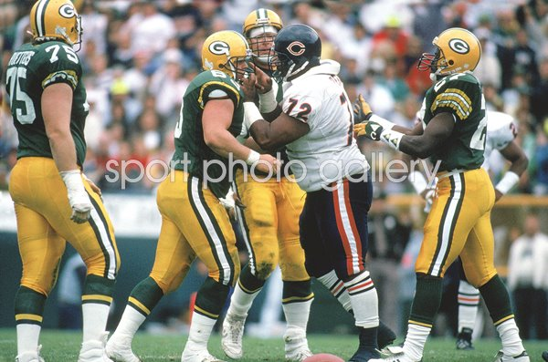 William Perry Chicago Bears v Green Bay Lambeau Field 1990