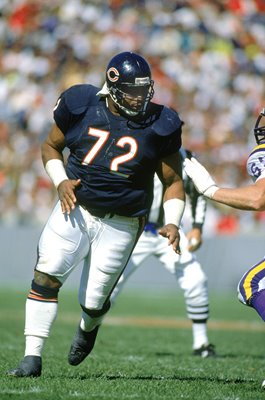 William Perry Chicago Bears v Minnesota Soldier Field 1990