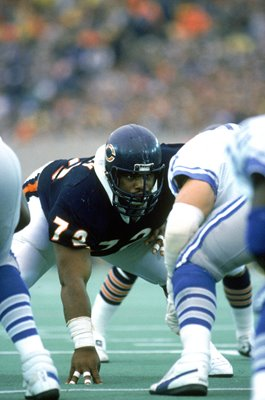 William Perry Chicago Bears v Detroit Lions Soldier Field 1986