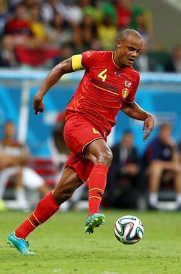 Vincent Kompany Belgium v USA Round of 16 World Cup 2014