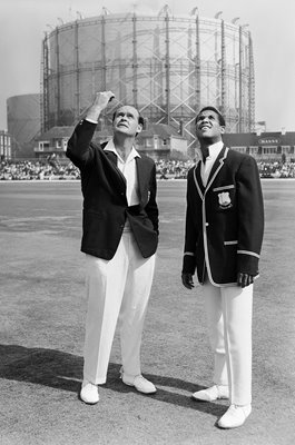 Captains Brian Close & Gary Sobers England v West Indies 1966