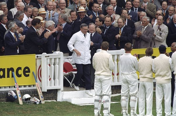 Umpire Dickie Bird retires England v India Lords 1996