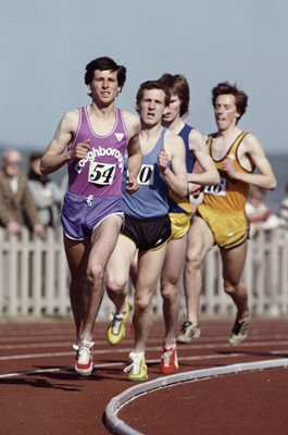 Sebastian Coe running Loughborough University 1980
