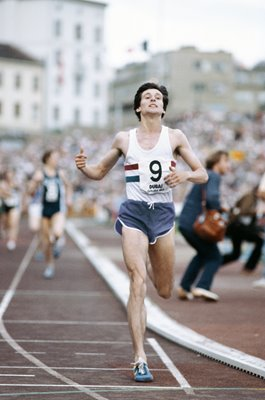 Sebastian Coe breaks the Golden Mile Oslo 1979