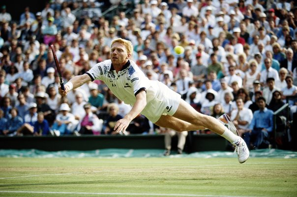 Boris Becker Germany Wimbledon action 1993