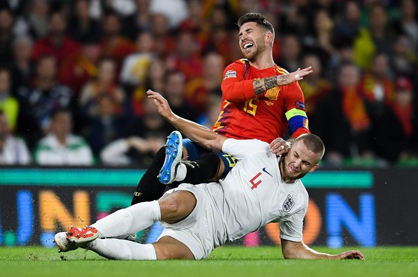 Eric Dier England tackles Sergio Ramos Spain Nations League 2018