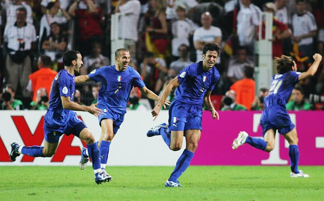 Fabio Grosso Italy scores v Germany semi-final World Cup 2006
