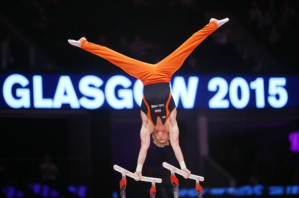 Epke Zonderland Netherlands Parallel Bars Gymnastics Worlds 2015