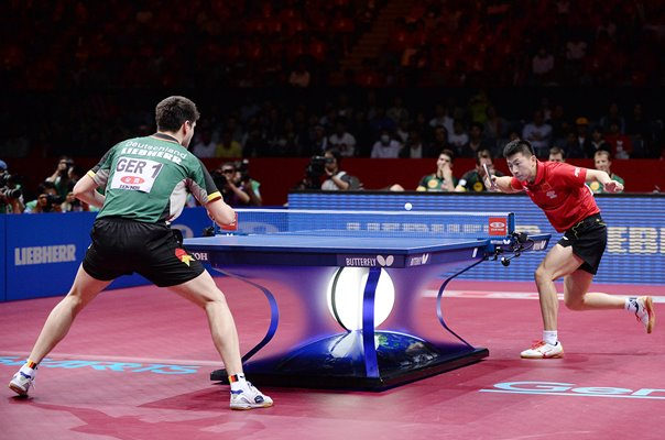 Long Ma China v Dimitrij Ovtcharov Germany World Team Table Tennis 2014