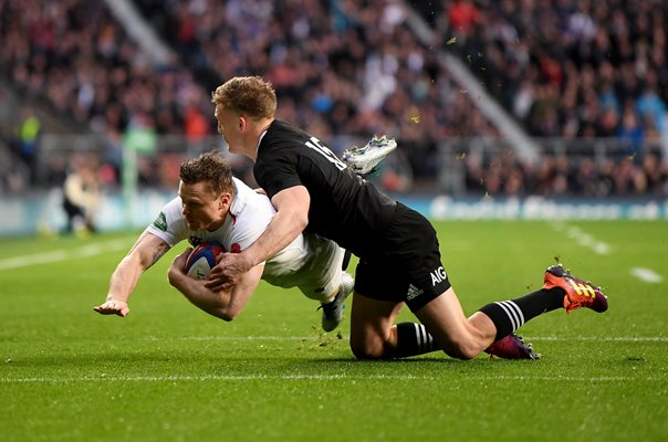 Chris Ashton England scores v New Zealand Autumn 2018