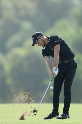 Danny Willett England World Tour Championship action Dubai 2018