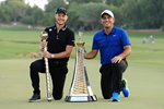 Danny Willett England & Francesco Molinari Italy Dubai 2018 Prints