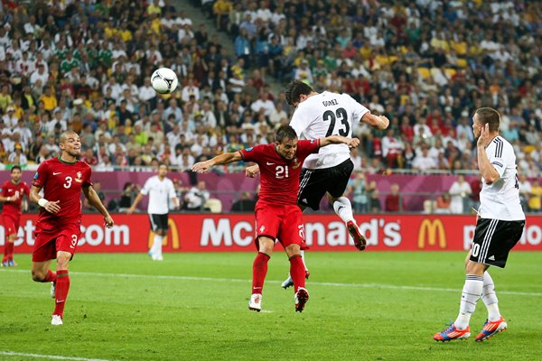 Mario Gomez heads Germany winner EURO 2012