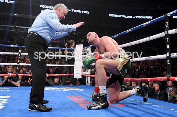 Tyson Fury v Deontay Wilder Round 9 Los Angeles 2018