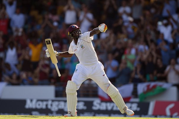 Jason Holder West Indies reaches 200 v England Barbados 2018