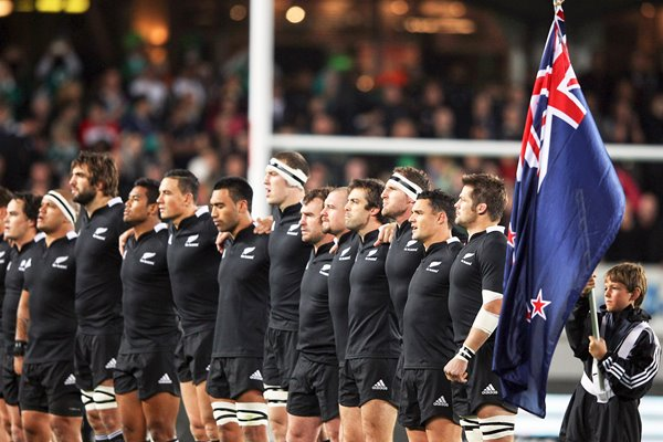 New Zealand All Blacks Line Up v Ireland Auckland 2012