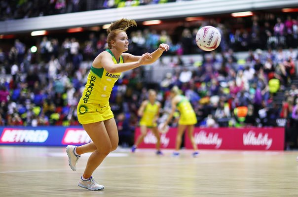 Stephanie Wood Australia v England Netball Quad Series 2019