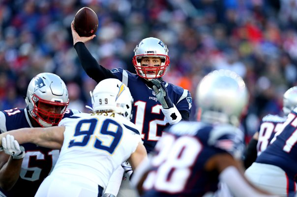 Tom Brady New England Patriots v Chargers Playoffs 2019