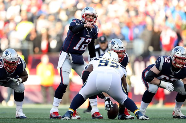 Tom Brady New England Patriots v Chargers Foxborough Playoffs 2019