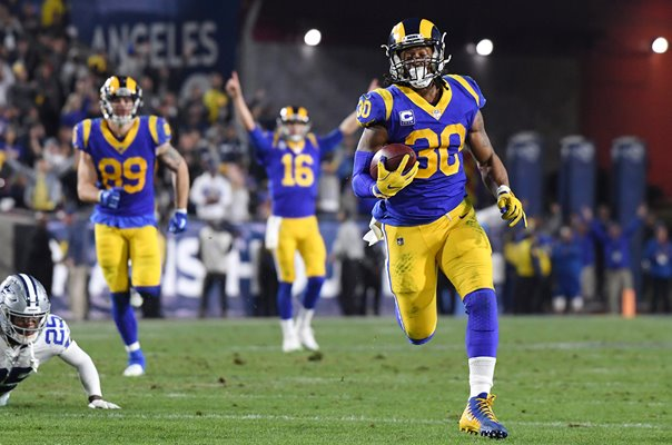 Todd Gurley Los Angeles Rams Touchdown v Dallas NFC Playoffs 2019