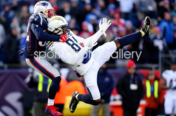 Devin McCourty New England v Mike Williams Los Angeles Playoffs 2019